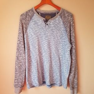 Lucky Brand | Blue and Gray Henley Shirt